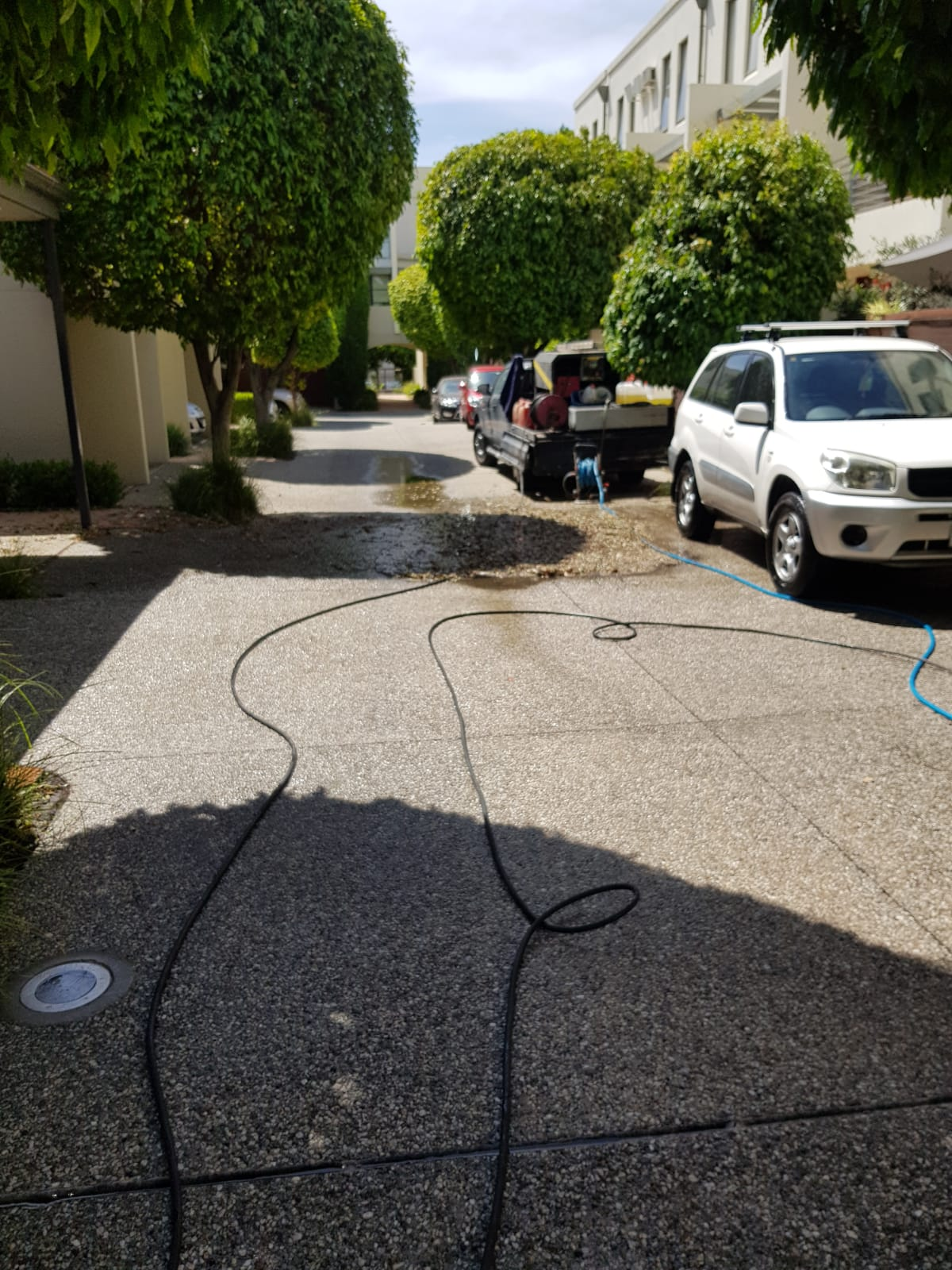 Apartment complex Westbank Terrace pressure wash cleaning Richmond