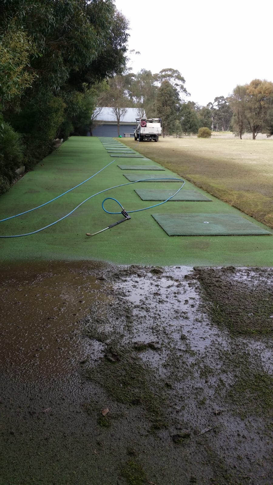 Pressure wash cleaning Eynesbury golf driving range